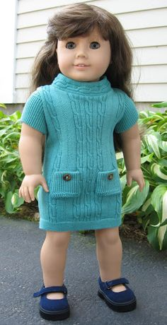 A Doll for all Seasons: A Very Stylish Knit Doll Dress from a Missy Sweater!