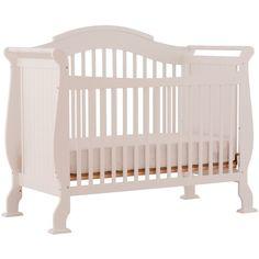 Stork Craft Valentia Convertible Crib, White (1 795 SEK) ❤ Liked On Polyvore