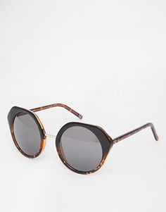 ASOS Round CP Sunglasses With Angular Frame