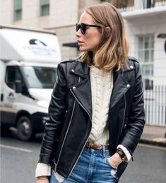 Korean Fashion Tips .Korean Fashion Tips Biker Jacket Outfit, Leather Jacket Outfits, Looks Style, Casual Looks, Style Me, Cool Girl Style, Fall Winter Outfits, Autumn Winter Fashion, Look Fashion