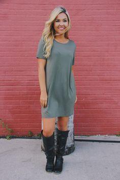 eaab04264c1 Olive t-shirt dress – Whiskey Darling Boutique