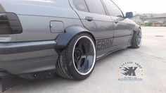 "JDM V2.Fender Flares Wheel Arch for BMW E36 SEDAN made from sheet metal 1/32"" #KSHOP"