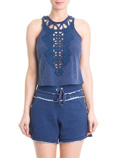 CROPPED DENIM - ZEIT - AZUL - Shop2gether