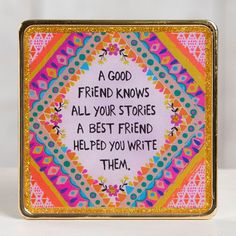 A precious gift to give someone is the gift of time together! <3 Show your friend how much you appreciate them by gifting them this plaque!