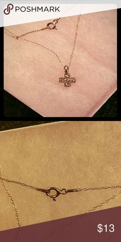 Argento vivo necklaces crystals cross pendant Silverstone .925 small cross new argento vivo Jewelry Necklaces