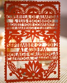 Mexican Wedding Banner Style Invites
