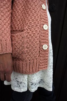 Paloma is a warm and cozy long cardigan, but delicate and feminine and perfect for warming up weather - find the knitting pattern on LoveKnitting!