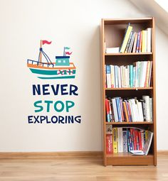 Never Stop Exploring Removable Wall Sticker LSB0033WHT