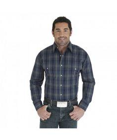 f644163082 Wrangler Wrinkle Resist Long Sleeve Shirt for Men.