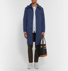 <a href='http://www.mrporter.com/mens/Designers/Mackintosh'>Mackintosh</a> is the original producer of waterproof coats, so you know you're in good hands when investing in outerwear from the revered Scottish label. This navy raincoat features a detachable drawstring hood and concealed front button fastenings for a streamlined profile. Wear this staple in the city with tailored trousers and sneakers.