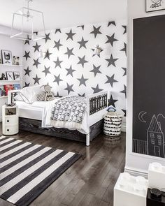 DIY with the Boys - Black and White - get the children involved in the decorating thewhiteapproach.blogspot.co.uk