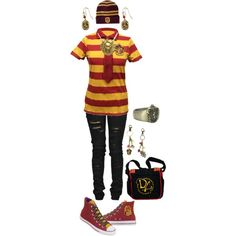 Designer Clothes, Shoes & Bags for Women Harry Potter Dress Up, Harry Potter Outfits, Beauty And The Beast, Hogwarts, Streetwear Brands, Luxury Fashion, School Ideas, Polyvore, Shopping