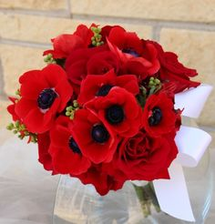 Southern Blue Celebrations: Red, Burgundy, Cranberry ~ Wedding Bouquets Ideas & Inspirations