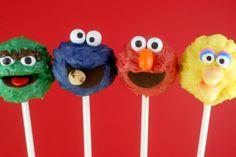 Sesame Street Cake PopsMade to order 3 dozen by llBlissfulBitesll, $120.00