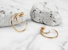 Missoma 18ct Gold Vermeil Double Horn Hoops18ct Gold Vermeil Double Horn Hoops