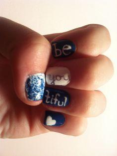 BeYOUtiful nail art! - http://yournailart.com/beyoutiful-nail-art/ - #nails #nail_art #nails_design #nail_ ideas #nail_polish #ideas #beauty #cute #love