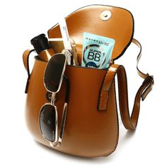 Women PU Leather Mini Crossbody bag Bucket Bag Phone Bag-I love those fashionable and beautiful Crossbody Bags from Newchic.com. Find the most suitable and comfortable Crossbody Bags at incredibly low prices here.