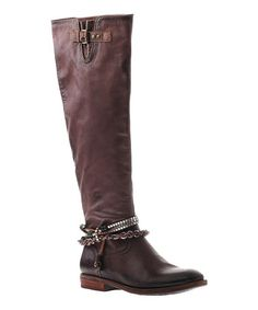 Another great find on #zulily! Dark Brown Trout Creek Leather Boot #zulilyfinds
