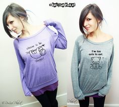 LAST ChAnCE Pre-Order Custom Slouchy Pullover Sweater - Choose Your Print -Kawaii Happy Cute Animal Shirt - ReLove Planet - XS-XL