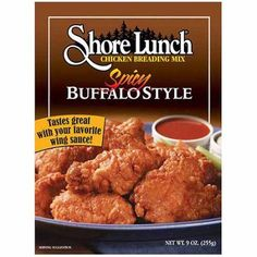 Shore Lunch Spicy Buffalo Style Braeding Mix, Multicolor