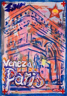 "Saatchi Art Artist Borai Kahne Ateliers; Painting, ""European Capital Cities - Paris"" #art"