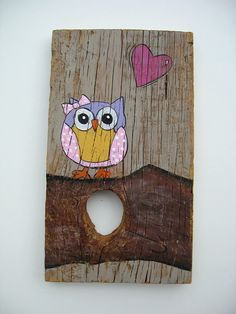 Barnwood Art Owl Picture Kids Room Painting with by AntonMurals, $38.95