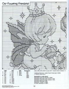 11 Cross Stitch Fabric, Beaded Cross Stitch, Cross Stitch Charts, Cross Stitching, Cross Stitch Embroidery, Disney Cross Stitch Patterns, Cross Stitch For Kids, Cross Stitch Designs, Precious Moments