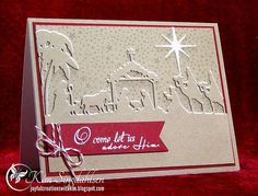 Joyful Creations with Kim: Nativity Border in Red and Blue