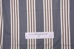 Woven Stripe Upholstery Fabric in Blue