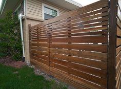 Imagini pentru stained redwood fence