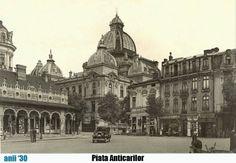 trecutul la timpul prezent: Piata Anticarilor, Bucuresti Little Paris, Bucharest Romania, Old Photography, My Town, Old City, Beautiful Architecture, Timeline Photos, Time Travel, Wonderful Places