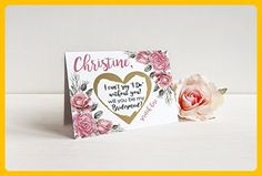 PERSONALIZED Scratch Off GOLD HEART Will you be my: Maid of Honor, Matron of Honor, Bridesmaid Proposal Card with Metallic Envelope. Will you be my bridesmaid? Card - Wedding party invitations (*Amazon Partner-Link)