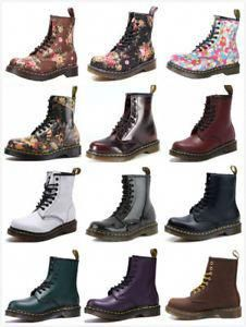 Dr Martens 8-Eye Classic Airwair 1460 Leather Canvas Ankle Boots Unisex #DocMartensoutfit