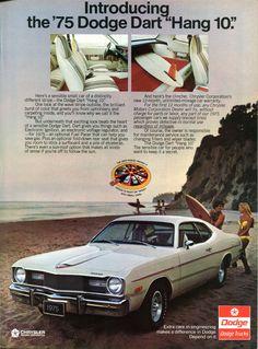 https://flic.kr/p/PWQbLu | 1975 Chrysler Dodge Dart Hang 10 Advertising Road & Track December 1974 | 1975 Chrysler Dodge Dart Hang 10 Advertising Road & Track December 1974