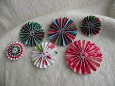 Scrapbook Piece Set of Very Merry by JudeAlyssaMarkus Christmas Flowers, Christmas Themes, Paper Rosettes, Paper Flowers, Scrapbook Embellishments, Merry And Bright, Pattern Paper, Scrapbook Paper, Paper Crafts