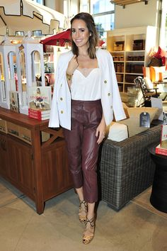 Louise Roe Does Leather Trousers On-Duty - Wednesday 27th April