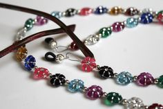 Flower Eyeglass Chain Colorful Chain for by MichelesAManoDesigns