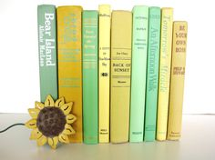 Spring Green and Summer Yellow Vintage Books