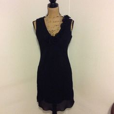 "Little Black Dress Samuel Dong elegant black dress. Very flattering dress. Size large. 100% polyester. Length is apprx 39"" long. Bust is apprx 36"" Samuel Dong by Dons Collection.  Dresses Midi"
