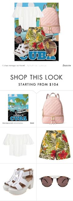"""""""Untitled #150"""" by madness4fashion on Polyvore featuring MICHAEL Michael Kors, Valentino, Miguelina and Oliver Peoples"""