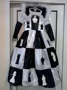 Noir /& blanc à damiers top hat mad hatter costume robe fantaisie style