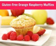 Gluten-Free Orange Raspberry Muffins http://skinnylatteskinnyjeans.com ...