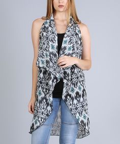 Look at this Black & Gray Geometric Racerback Vest on #zulily today!
