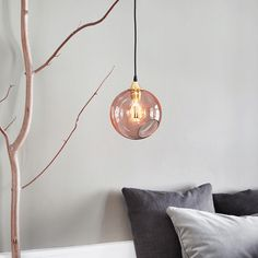 Design by Us Ballroom Pendel Rosa Stor - Køb her!