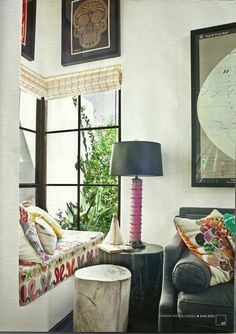 I love the corner window! It's rare and is really creative for a reading nook like in the above picture!