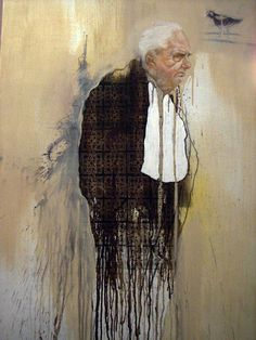 A truly breathtaking portrayal of an elderly gentleman. The detail of his face is outstanding and to me, he makes me think of a man with Italian descent. The origin of this painting is unclear so any direction you guys could point us in would be a great help. #art #painting