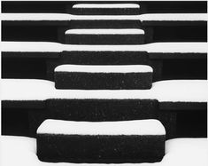 Merg Ross Steps in Snow, New York City, From arsvitaest & yama-bato. Stairs Graphic, Thinking In Pictures, Black Like Me, Black And White Abstract, Black White, Free Photography, Photo Archive, Black And White Photography, Winter Snow