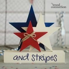 The Wood Connection is Utah's original unfinished wood crafts store. Shop our online selection of DIY wood projects! 4th July Crafts, Fourth Of July Decor, 4th Of July Decorations, July 4th, Birthday Decorations, Americana Crafts, Patriotic Crafts, Patriotic Party, Summer Crafts