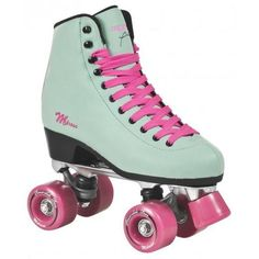Your Online-Shop for Roller Derby and Outdoor-skating. Choose one of the products of your favourite brand or take a look on our packages for beginners or professionals. Be prepared for a huge selection of rollerskates, boots, plates, wheels, bearings and Quad Roller Skates, Roller Derby, Roller Skating, Baby Girl Shoes, Girls Shoes, Athletic Gear, Pink Turquoise, Baby Accessories, Suede Boots