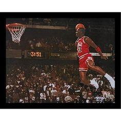 """buyartforless Framed """" Michael Jordan - Foul Line Dunk"""" Sports Art Print  #buyartforless"""